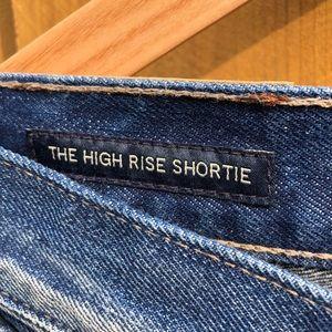 Lucky Brand Shorts - Lucky Brand x Pendleton High Rise Denim Shorts